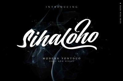 Sihaloho Script & Serif Typeface