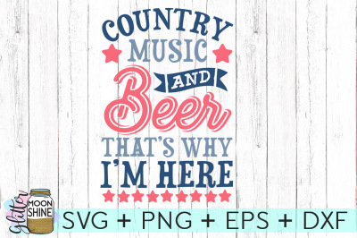 Country Music & Beer SVG DXF PNG EPS Cutting Files