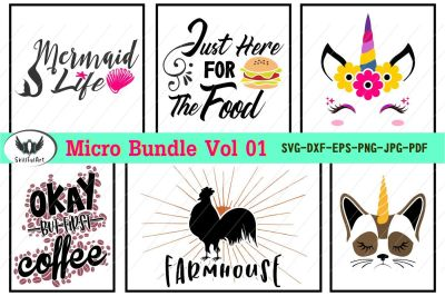 micro bundle 1, svg cut files
