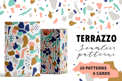 TERRAZZO seamless patterns and cards