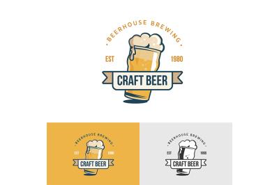 Original vintage craft beer logo.