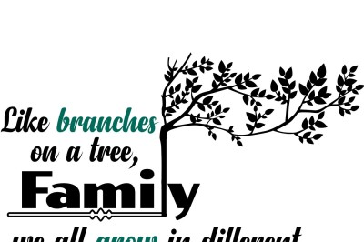 Family tree quote SVG