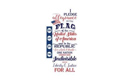 Pledge of Allegiance SVG