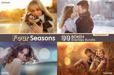 Four Seasons - 99 Bokeh Overlays