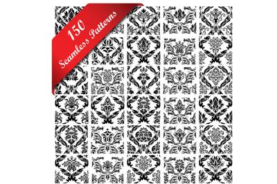 150 Damask Seamless Pattern Set
