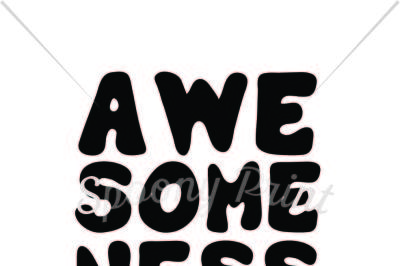 Awesomeness runs on the family printable