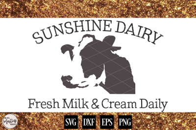 Sunshine Dairy Cow Farm Sign