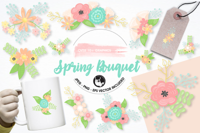Bouquet graphics and illustrations