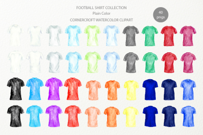 Football Shirt Clipart in Plain Color