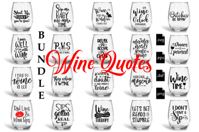 Wine Quotes Bundle