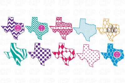 Texas State Bundle SVG Cut Files, Southern Monogram SVG