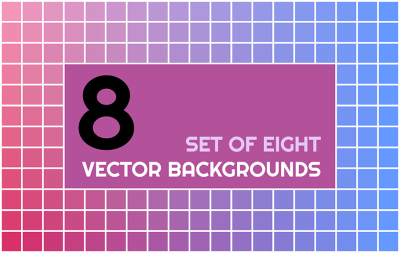 8 colorful vector backgrounds