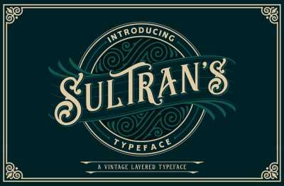 Sultrans Typeface