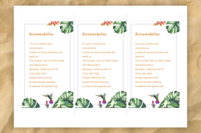 Tropical Wedding invitation DiY