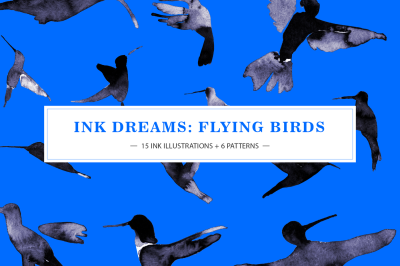 INK BIRDS (PATTERNS & GRAPHICS)