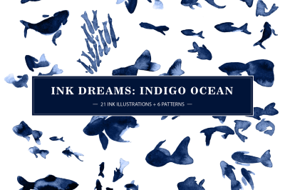 INK FISHES (PATTERNS & GRAPHICS)