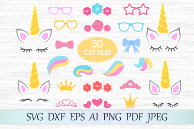 Unicorn kit SVG, DXF, EPS, AI, PNG, PDF, JPEG