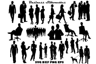 Business Silhouette SVG PNG DXF EPS