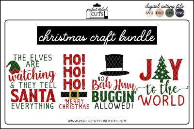 Christmas Craft Bundle - SVG, EPS, DXF, PNG Files For Cutting
