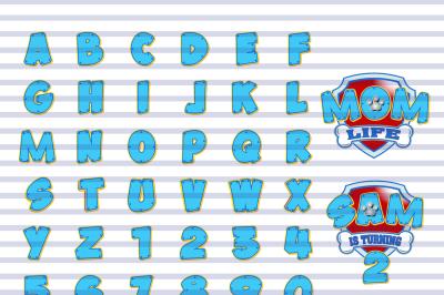 Paw Print Alphabet Set for Boys