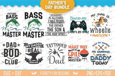 Fathers Day Svg Bundle, Gamer svg, Fishing Svg, Mechanic svg, bundle