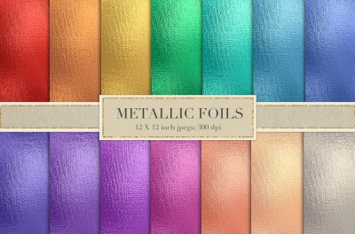 Colored metallic foil textures