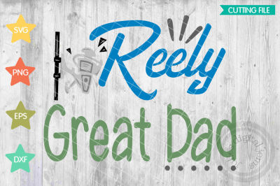 Reel Cool Dad SVG, Fishing svg files for cricut