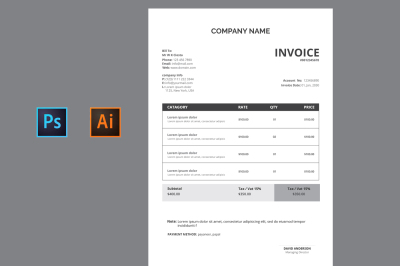 INVOICE TAMPLATE