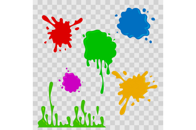 Paint drop abstract illustration. Multicolor splashes