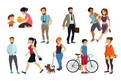 Peoples walking on the street