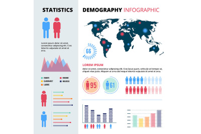 Infographic concept design of people population