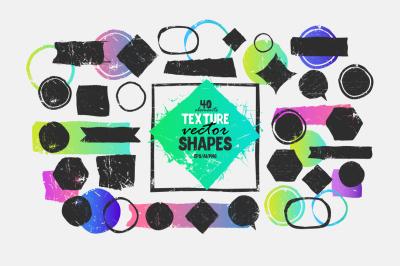 Texture. Vector shapes.