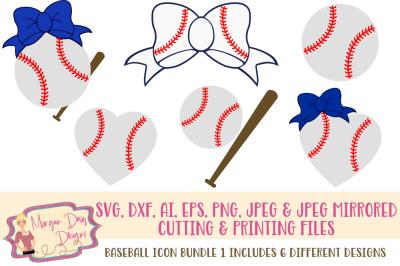 Baseball Icon SVG Bundle