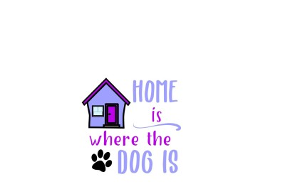 Home is where the dog is SVG