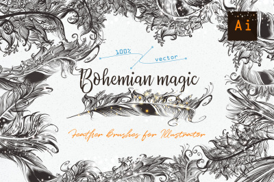 Bohemian magic. Illustrator brushes