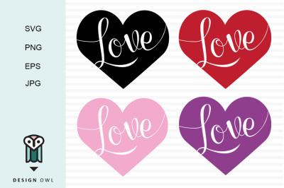 Love hearts SVG PNG EPS JPG