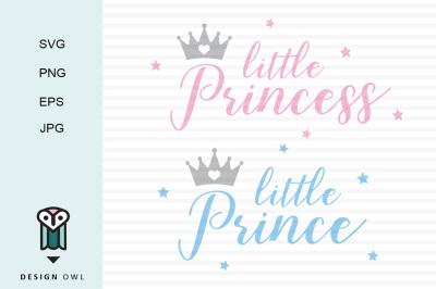 Little prince/princess SVG PNG EPS JPG