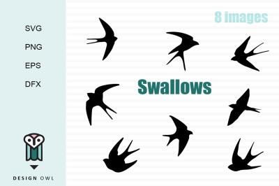 Swallows SVG PNG EPS DFX