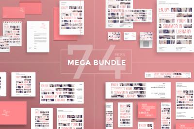 Design templates bundle | flyer, banner, branding | Summer in Library