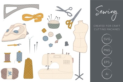 Sewing Clipart, Sewing Machine Clipart, Crafts Clipart, Sewing Craft