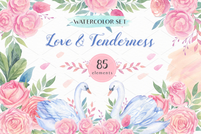 Love & Tenderness Watercolor Set