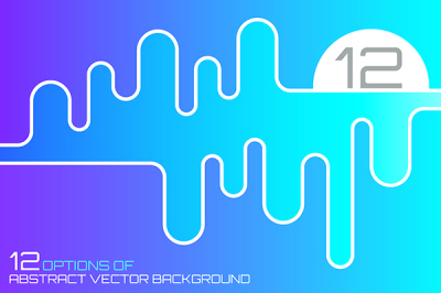 12 Abstract vector backgrounds with wave shape