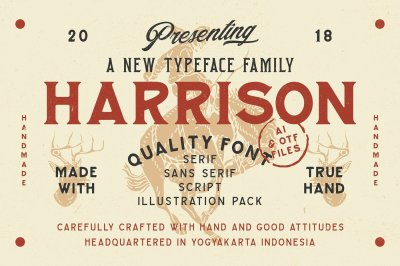 Harrison Typeface Family