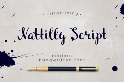 Nattilly Script font