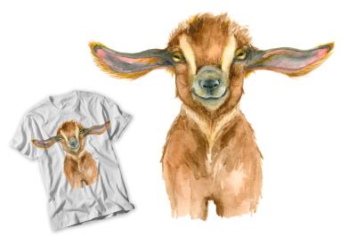 Goat head Watercolor