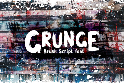 Grunge Latin and Cyrillic Brush Font