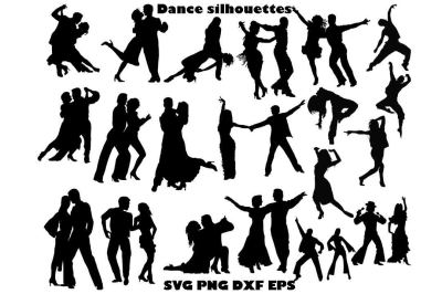 Dance silhouette SVG DXF PNG EPS