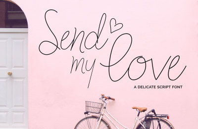 Send my Love - A Delicate Script Font