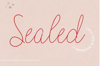 Sealed - A Monoline Script Font