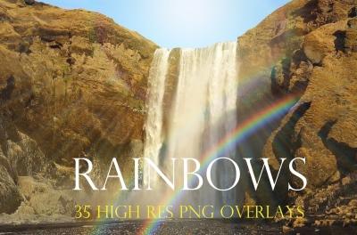 Realistic rainbow overlays